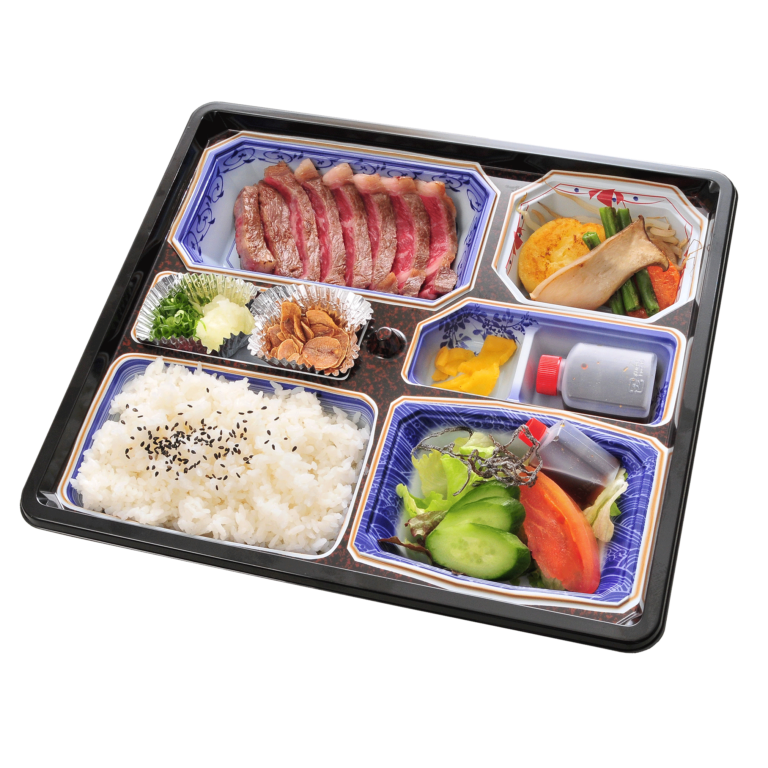 美食倶楽部一歩特選サーロインステーキ弁当